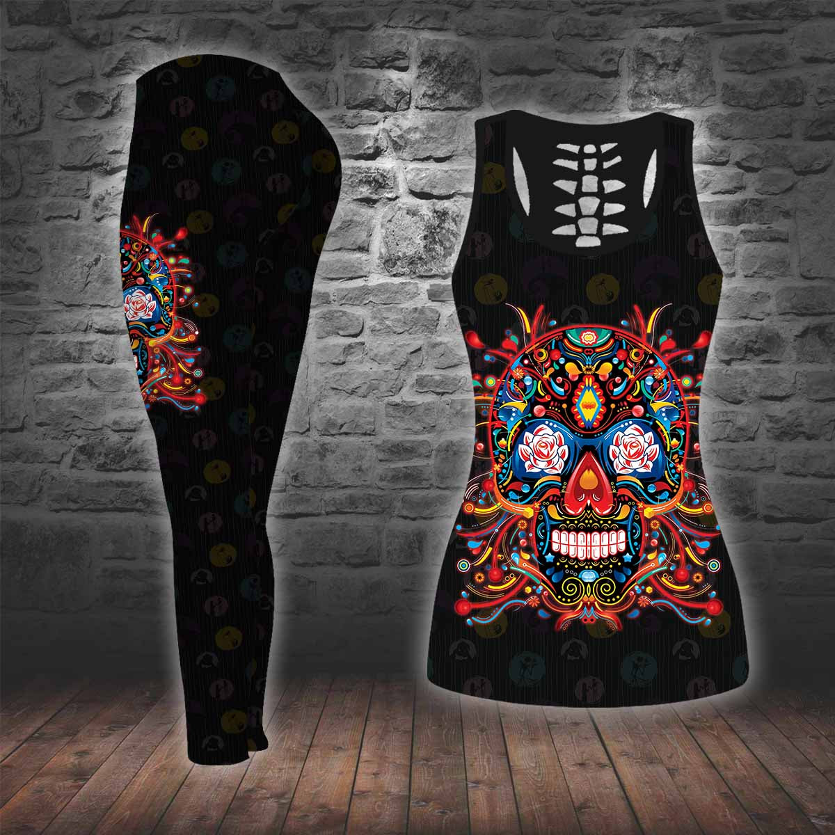 COMBO TANK TOP & LEGGINGS OUTFIT FOR WOMEN TATTOO TT003PA