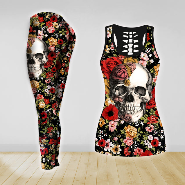 COMBO TANK TOP & LEGGINGS OUTFIT FOR WOMEN TATTOO TT04KF