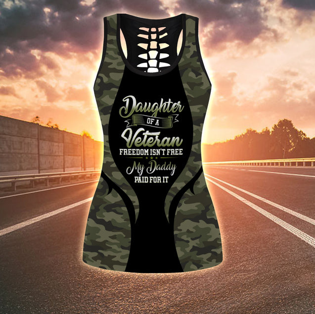 COMBO ARMY TANKTOP & LEGGINGS OUTFIT FOR WOMEN TA005GBNUH