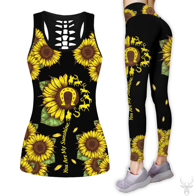 COMBO HORSE TANKTOP & LEGGINGS OUTFIT FOR WOMEN TA06A0IEH
