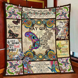 MAY GIRL I AM THE STORM BUTTERFLY QUILT Q0079MSON