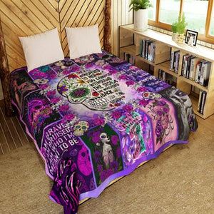 SKULL GIRL ROSE I AM THE STORM QUILT Q0079WSON