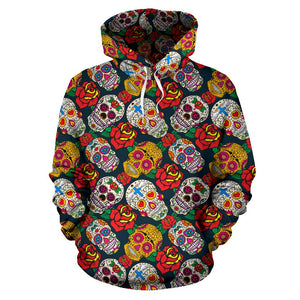 SKULL HOODIE 3D ALL OVER PRINT HD006MUTTD