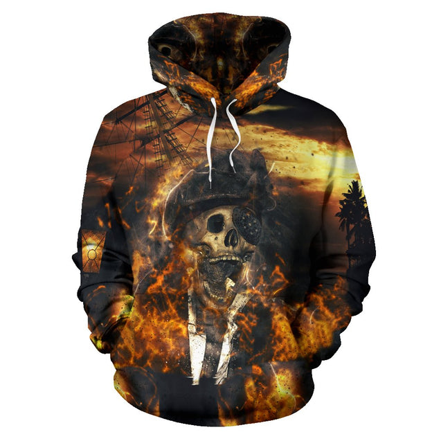 SKULL PIRATE HOODIE 3D ALL OVER PRINT HD006MWTTD