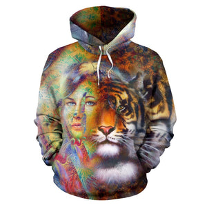 TIGER FEMALE HOODIE 3D ALL OVER PRINT HD006MXTTD