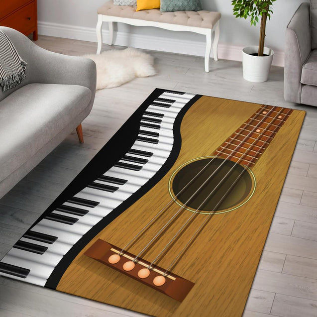Guitar Living Room Sofa Square Rug FR005YX