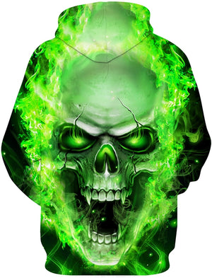 GREEN TOXIC SKULL HOODIE 3D ALL OVER PRINT H0079USON
