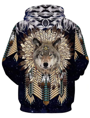 Native American Wolf Warrior 3D Apparel HX2009102PTX