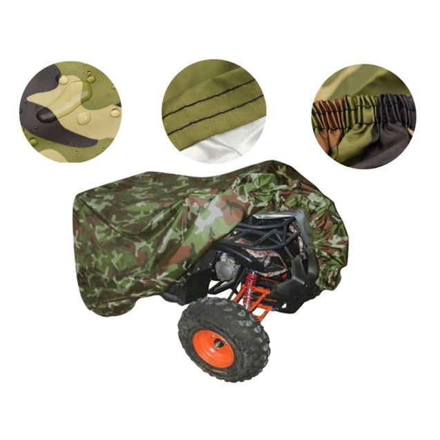 Atv Motorcycle Camouflage Dust Cover Sun Protection Waterproof Protective Cover Car Clothing