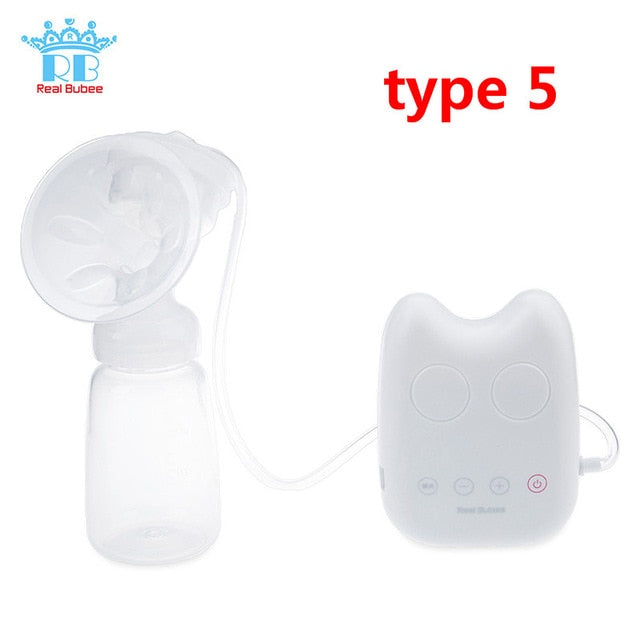 Real Bubee Single/Double Electric Breast Pump With Milk Bottle Infant