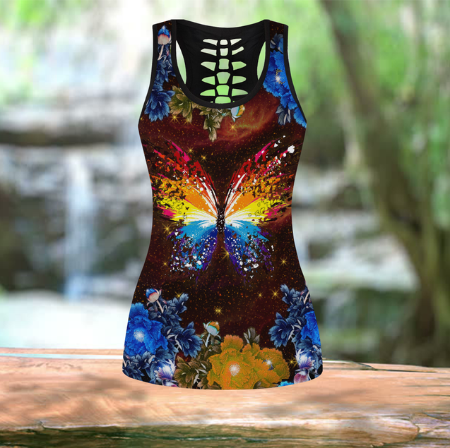 COMBO BUTTERFLY TANKTOP & LEGGINGS OUTFIT FOR WOMEN TA0079DSON