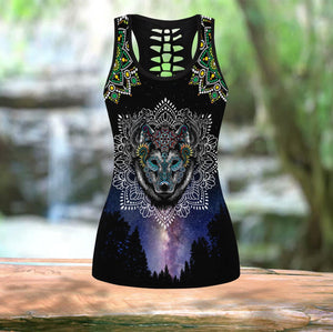 LoBo Wolf Mandala Over Printed Legging & Tank top-ML