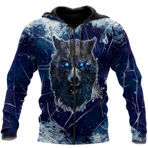 Winter Is Coming Wolf 3D Over Printed Hoodie for Men and Women-ML
