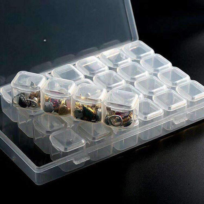 Storage Container With Individual Lids