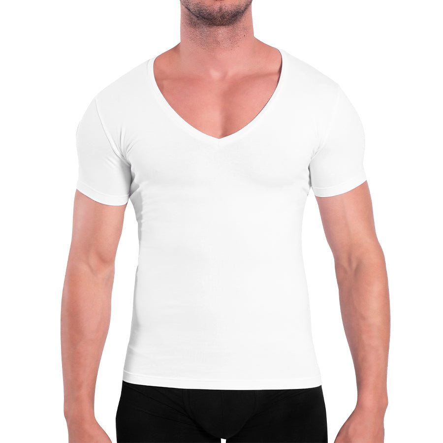 Rounderbum Deep V Cotton Compression T-Shirt