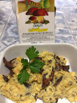 Recipe - Scrambled Egg with Porcini Mushroom