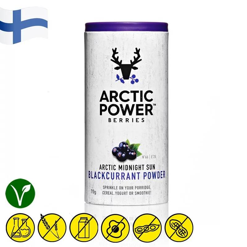 Acrtic Power Berries Wild Blackcurrant Powder 70g - Asiaboxx Foods | Hong Kong