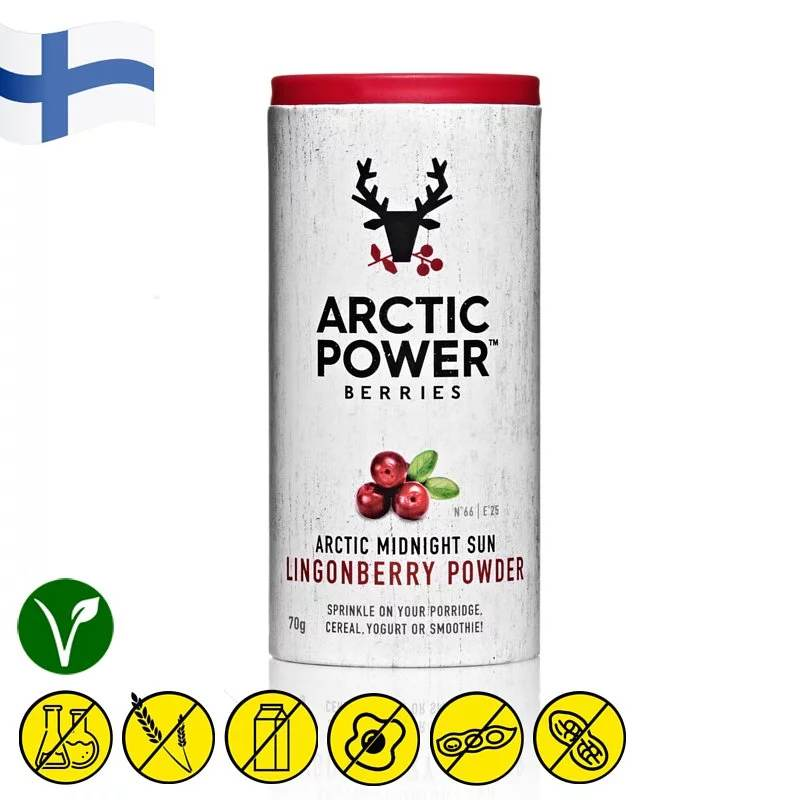 Arctic Power Berries Wild Lingonberry Powder 70g - Asiaboxx Foods | Hong Kong