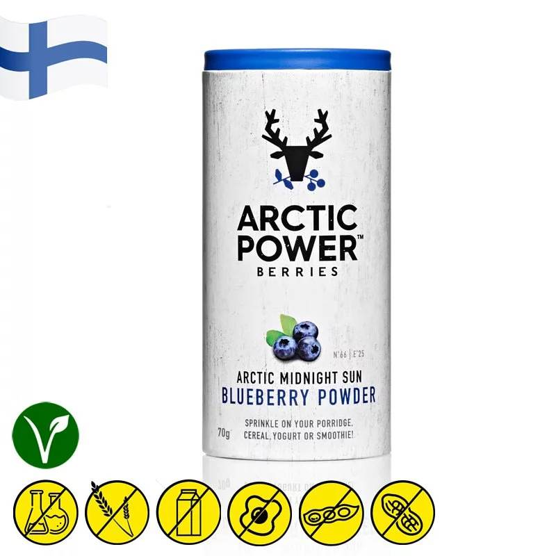 Arctic Power Berries Wild Blueberry Powder 70g - Asiaboxx Foods | Hong Kong