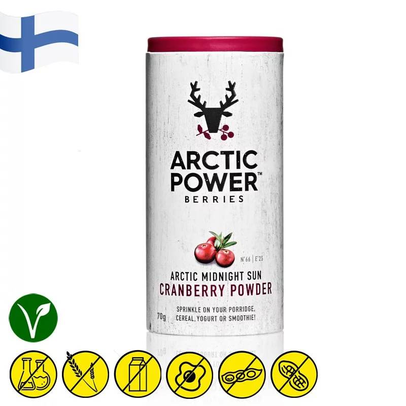 Arctic Power Berries Wild Cranberry Powder 70g - Asiaboxx Foods | Hong Kong