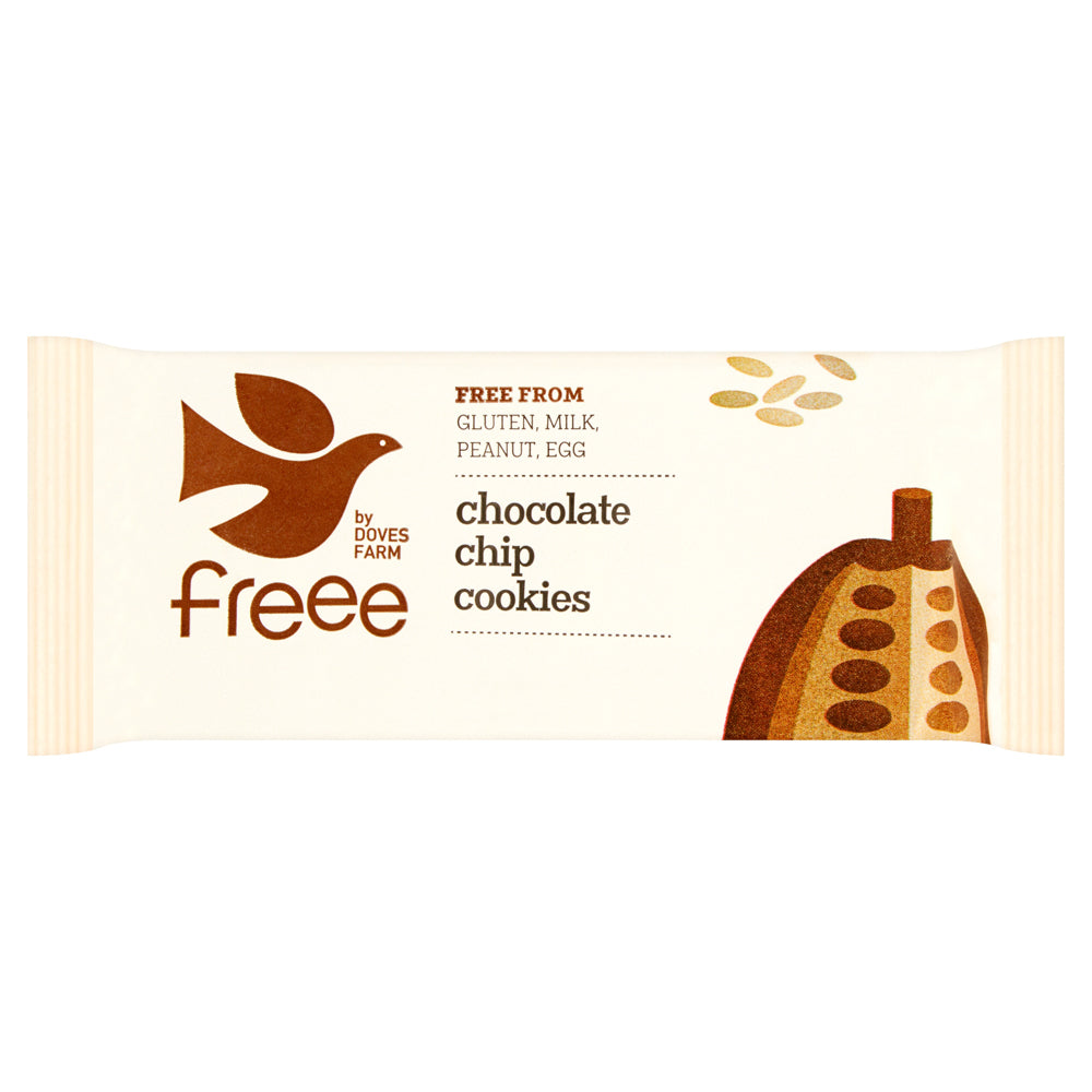 Freee by Doves Farm Organic Gluten Free Chocolate Chip Cookies 180g - Asiaboxx Foods | Hong Kong