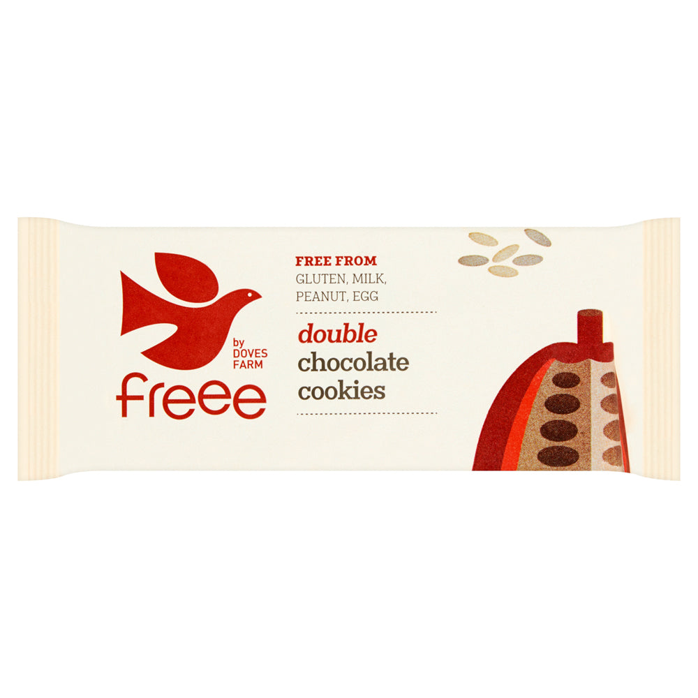 Freee by Doves Farm Organic Gluten Free Double Chocolate Cookies 180g - Asiaboxx Foods | Hong Kong