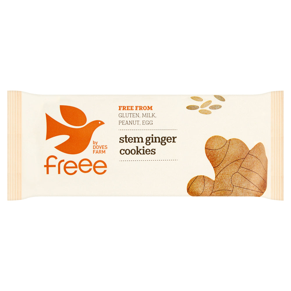 Freee by Doves Farm Organic Gluten Free Stem Ginger Cookies 150g - Asiaboxx Foods | Hong Kong