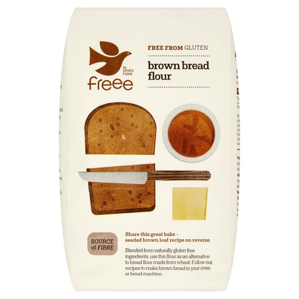 Freee by Doves Farm Gluten Free Brown Bread Flour 1Kg - Asiaboxx Foods | Hong Kong