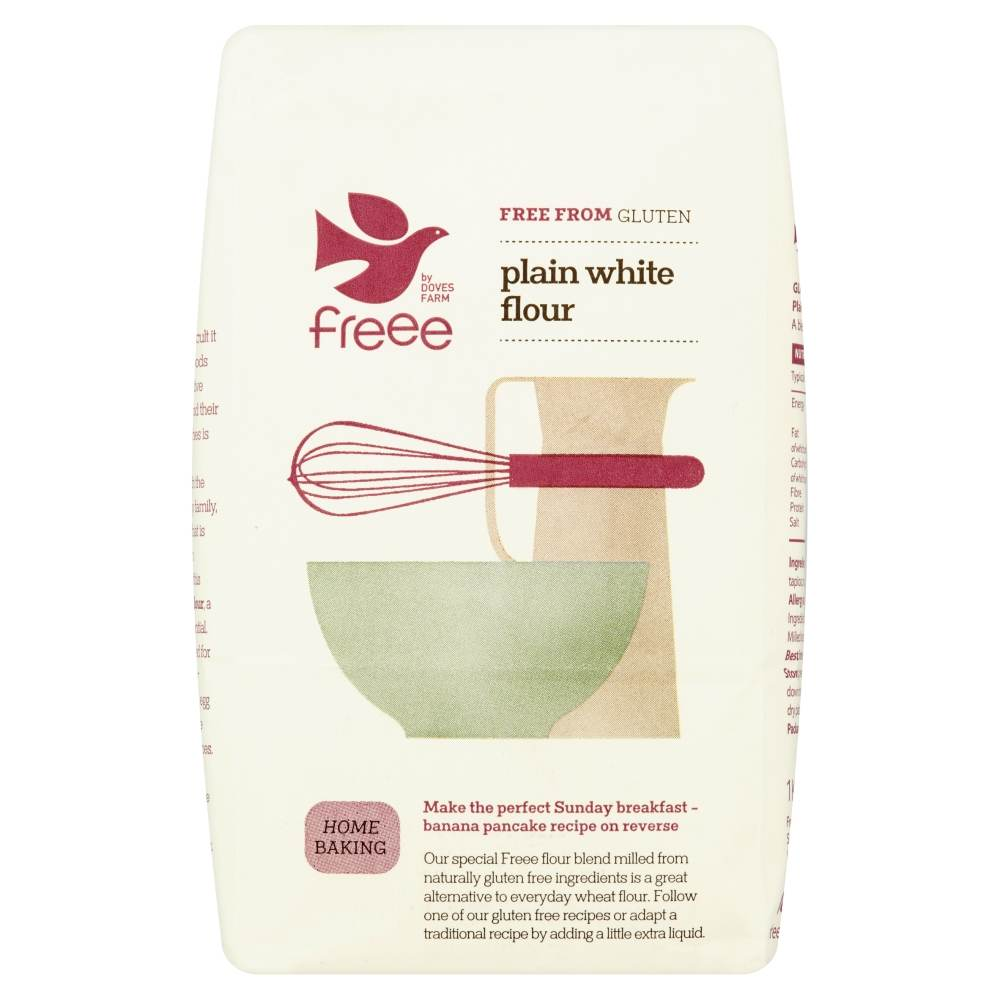 Freee by Doves Farm Gluten Free Plain White Flour 1Kg - Asiaboxx Foods | Hong Kong