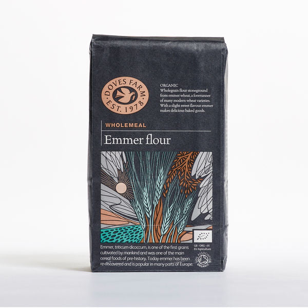 Doves Farm Organic Emmer Wholemeal Stoneground Flour 1Kg - Asiaboxx Foods | Hong Kong