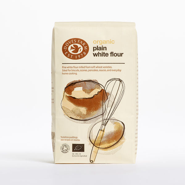 Doves Farm Organic Plain White Flour 1Kg - Asiaboxx Foods | Hong Kong