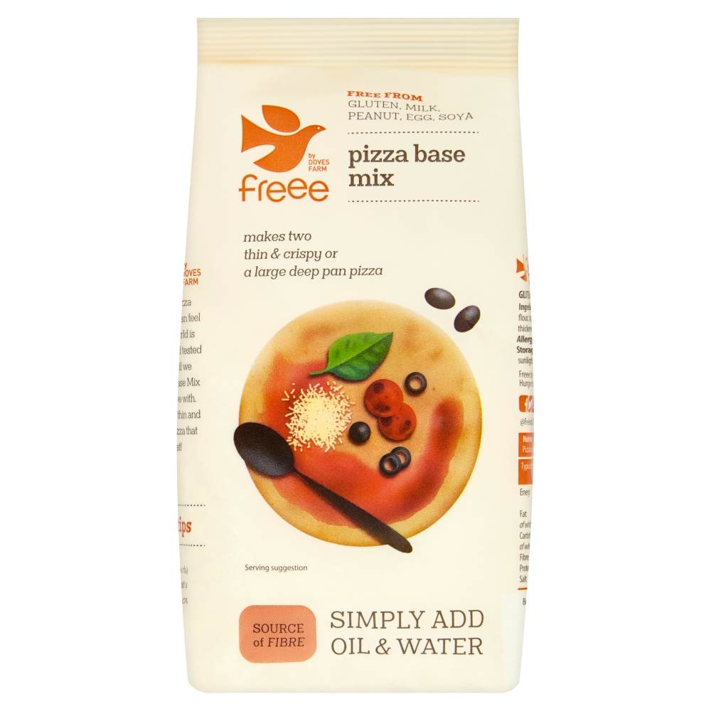 Freee by Doves Farm Gluten Free Pizza Base Mix 350g - Asiaboxx Foods | Hong Kong