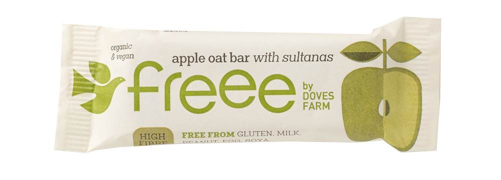 Freee by Doves Farm Organic Gluten Free Apple Oat Bar with Sultana 35g - Asiaboxx Foods | Hong Kong