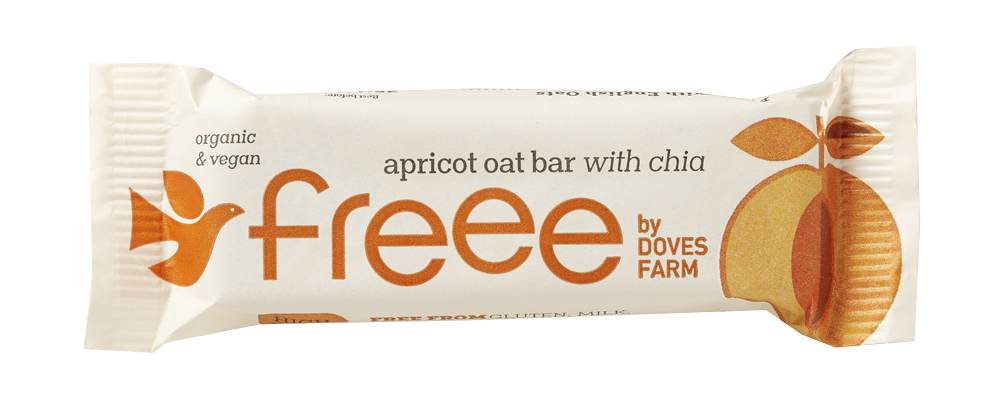 Freee by Doves Farm Organic Gluten Free Apricot Oat Bar with Chia Seed 35g - Asiaboxx Foods | Hong Kong