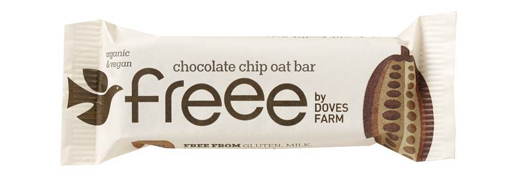 Freee by Doves Farm Organic Gluten Free Chocolate Chip Oat Bars 35g - Asiaboxx Foods | Hong Kong