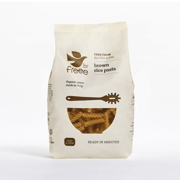 Freee by Doves Farm Organic Gluten Free Brown Rice Fusilli 500g