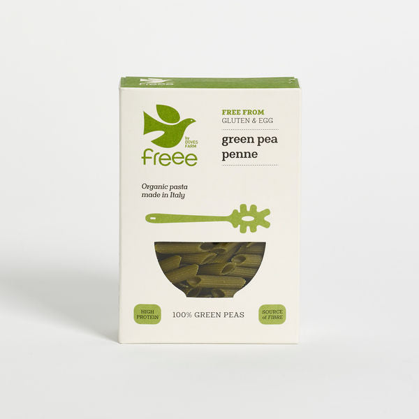 Freee by Doves Farm Organic Gluten Free Green Pea Penne 250g - Asiaboxx Foods | Hong Kong