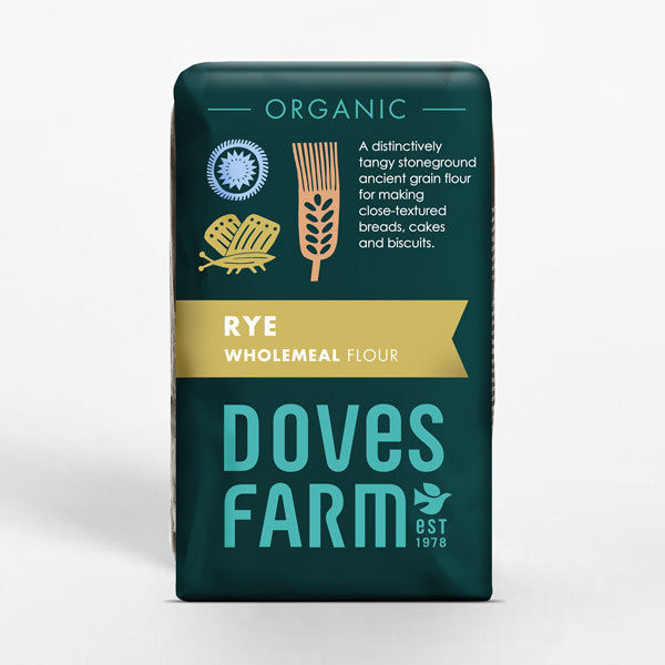 Doves Farm Organic Rye Wholemeal Stoneground Flour 1Kg
