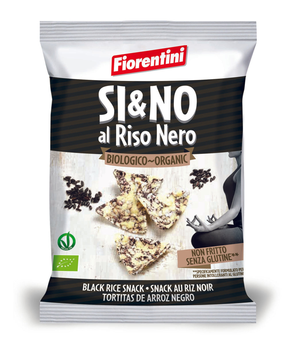 Fiorentini Organic Gluten Free Black Rice Chips 20g - Asiaboxx Foods | Hong Kong