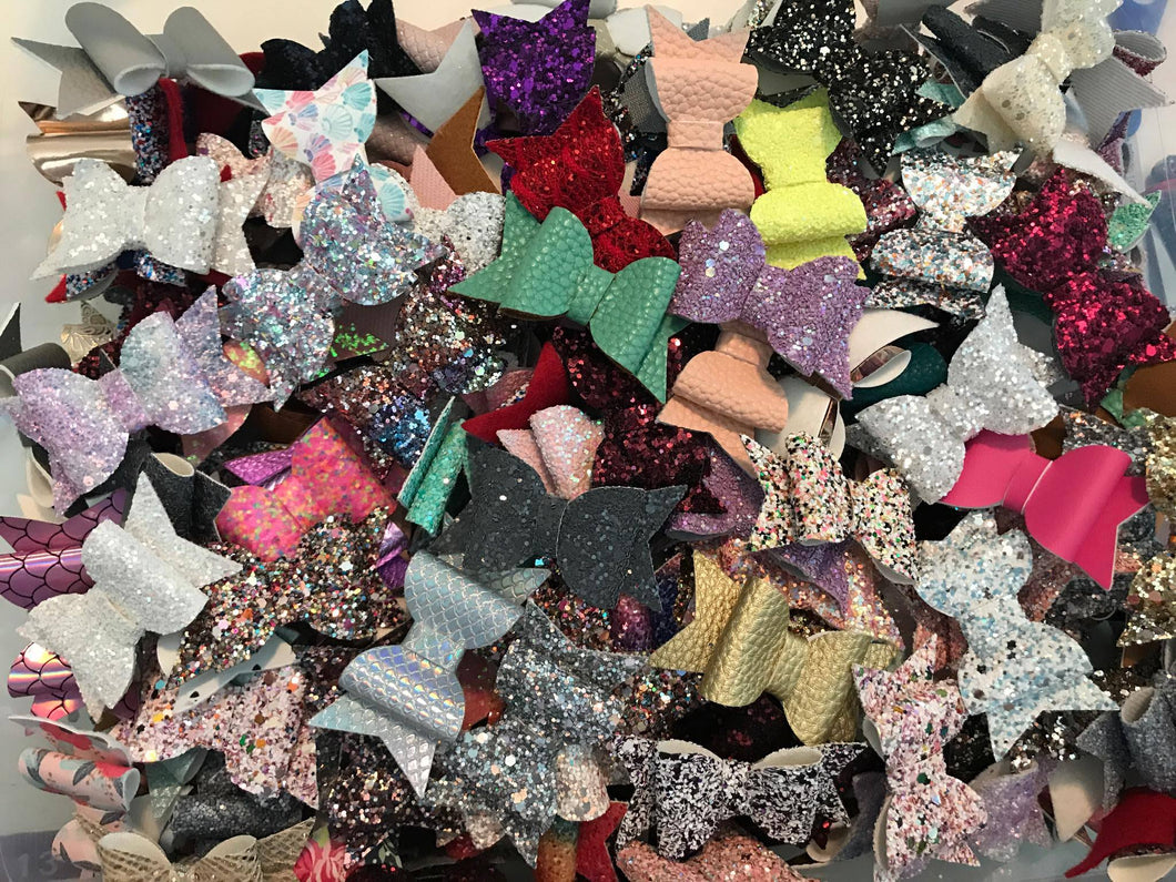Emmy Bow Style || Grab Bag || Glitter Bow || Choose Headband or Clip || Faux Leather Bow || Felt Bow || Grab Bag Lot