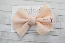 Large Julia Messy Bow Style Bow || Cream