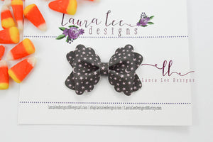 Mini Scalloped Margo Style Bow || Stars and Moon Vegan Leather
