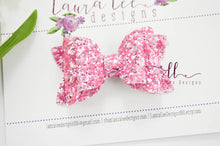 Stacked Winnie Bow Style || Princess Pink Glitter