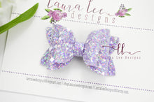 Stacked Winnie Bow Style || Purple Brilliance Glitter
