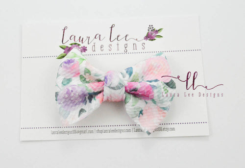 Small Julia Messy Bow Style Bow || Blooming Garden