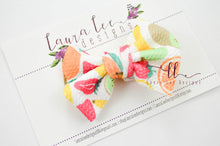 Small Julia Messy Bow Style Bow || Mixed Fruit