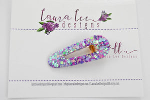 Elegant Alligator Clip || Pink and Purple Glitter Triangle Alligator Clip