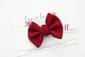 Small Julia Messy Bow Style Bow || Burgundy
