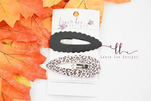 Scalloped Snap Clip || 2 Piece Snap Clip Set