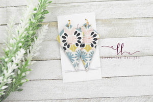 Veronica Earrings || Genuine Leather